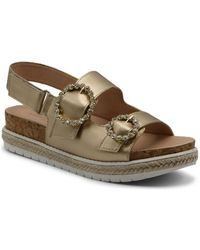 Adrienne Vittadini Prize Footbed Sandals - Multicolour