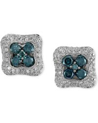 Effy Collection - Diamond Square Stud Earrings (1-1/6 Ct. T.w.) In 14k White Gold - Lyst