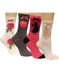 Disney - 4-pk. Assorted Princesses Socks - Lyst