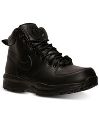 Nike Manoa Leather Boots From Finish Line - Black