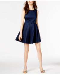 Maison Jules - Bow-detail Fit & Flare Dress, Created For Macy's - Lyst