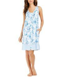 Miss Elaine Floral-print Nightgown - Blue