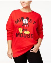 Hybrid - Trendy Plus Size Mickey Mouse Graphic Sweatshirt - Lyst