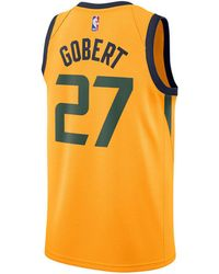e12cc8197 Lyst - Nike Rudy Gobert Utah Jazz Icon Swingman Jersey in Blue for Men