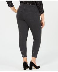 Hue - ® Plus Size Lace-up Microsuede Skimmer Leggings - Lyst