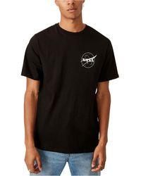 Cotton On Nasa Meatball Logo T-shirt - Black