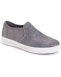 Muk Luks Street Savvy Slip-on Sneakers - Blue