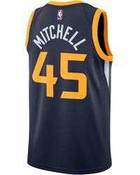 promo code 68660 10311 Nike Synthetic Donovan Mitchell Utah Jazz Hardwood Classic ...