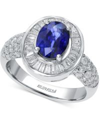 Effy Collection - Sapphire (1-3/8 Ct. T.w.) And Diamond (9/10 Ct. T.w.) Ring In 14k White Gold - Lyst