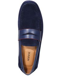 Alfani Tuck Suede Drivers, Created For Macy's - Blue