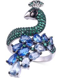 Macy's Cubic Zirconia Peacock Statement Ring - Multicolour