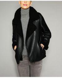 The Fur Vault - Shearling Lamb Moto Jacket - Lyst