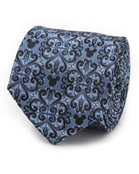Disney Mickey Mouse Damask Tile Tie - Blue