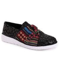 Muk Luks Boardwalk Stepping Out Slip-on Sneakers - Black