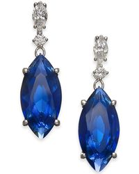 Danori - Silver-tone Marquise Stone & Crystal Drop Earrings, Created For Macy's - Lyst