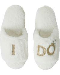 Dearfoams Bride And Bridesmaids Slide Slippers, Online Only - Multicolor