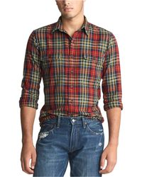 Polo Ralph Lauren Classic Fit Plaid Workshirt - Red