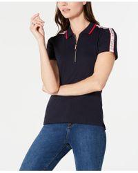 447daf19330 Lyst - Tommy Hilfiger Plus Size Cotton Striped Lace-trim Shirt ...