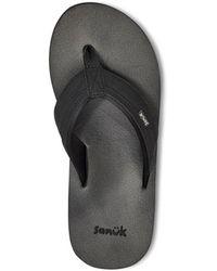 Sanuk Ziggy Flip-flop Sandals - Black