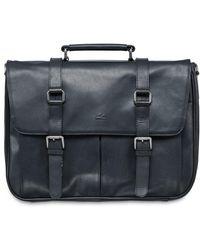 Mancini Buffalo Collection Single Compartment Laptop Briefcase - Black