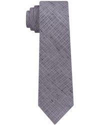 DKNY Distressed Street Slim Tie - Metallic