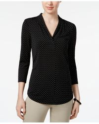 Charter Club - 3/4-sleeve V-neck Top - Lyst