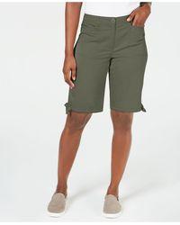 Karen Scott Solid Tie-cuff Shorts, Created For Macy's - Green