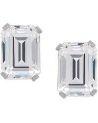 Macy's - Cubic Zirconia Emerald-cut Stud Earrings In 14k Gold Or 14k White Gold - Lyst