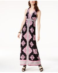 INC International Concepts - I.n.c. Printed Surplice-neck Maxi Dress, Created For Macy's - Lyst
