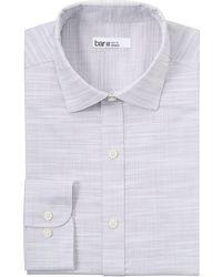 Bar Iii Organic Cotton Slub Solid Slim Fit Dress Shirt, Created For Macy's - Multicolour