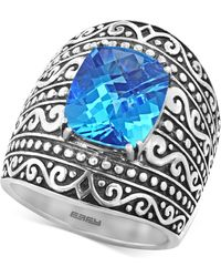 Effy Collection - Blue Topaz (6-2/3 Ct. T.w.) Ring In Sterling Silver - Lyst