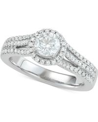 Marchesa Diamond Halo Engagement Ring (1 Ct. T.w.) In 18k White Gold - Metallic