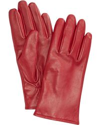Charter Club Cashmere Lined Leather Tech Gloves, Created For Macy's - Red