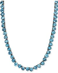 Macy's Peridot Necklace (30 Ct. T.w.) In Sterling Silver (also Available In Blue Topaz, Amethyst, Garnet & Multi-stone)