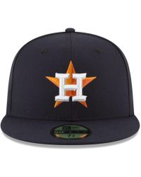 sports shoes ee37a c80bb KTZ Houston Astros Prism Color Pack 59fifty Fitted Cap in Orange for Men -  Lyst