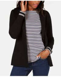 Charter Club - Petite Turnback-sleeve Sweater Blazer, Created For Macy's - Lyst