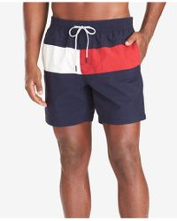 a8867838688d Lyst - Tommy Hilfiger Flag Swim Trunks European Collection in Red ...