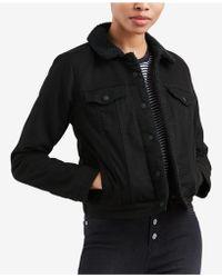 Levi's Original Sherpa Trucker Denim Jacket - Black