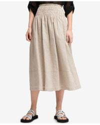 DKNY - Linen Tiered Maxi Skirt, Created For Macy's - Lyst
