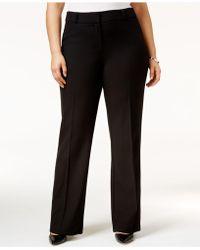 Alfani - Plus Size Straight-leg Trousers - Lyst
