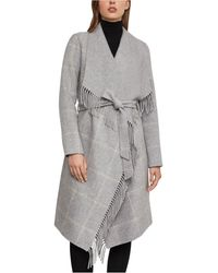 BCBGMAXAZRIA Naomi Shawl-collar Coat - Grey
