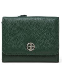 Giani Bernini Softy Leather Trifold Wallet, Created For Macy's - Green