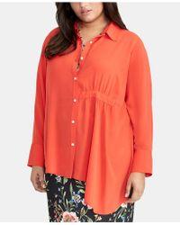 8cb65822147f1 RACHEL Rachel Roy - Trendy Plus Size Asymmetrical-hem Shirt - Lyst