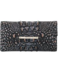 Brahmin - Melbourne Soft Checkbook Embossed Leather Wallet - Lyst
