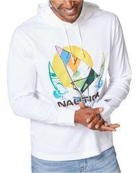 Nautica - Logo Print Hoodie - Lyst