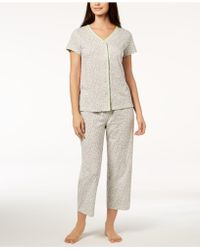 Charter Club - Cotton Picot-trim Pyjama Set, Created For Macy's - Lyst