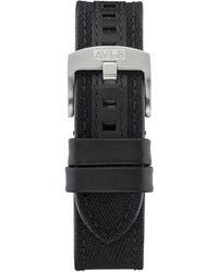 AVI-8 Black Genuine Leather And Cordura Strap, 22mm