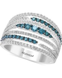 Effy Collection - Belle Bleu By Effy® Diamond Multi-row Statement Ring (1-1/8 Ct. T.w.) In 14k White Gold - Lyst