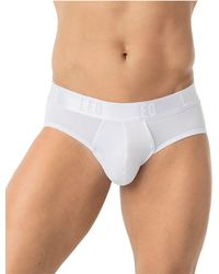 Leo Brief With Advanced Fit - White