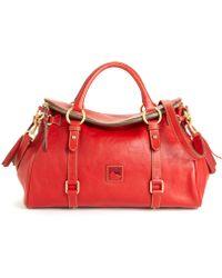 Dooney & Bourke Florentine Vaccheta Leather Satchel - Red